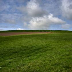 Landschaft und Wolken